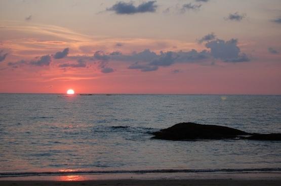sea ocean sunset