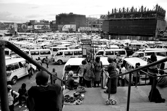 sea of taxis