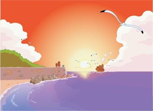 sea seagull vector