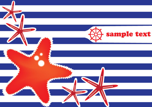 sea stars vector card design