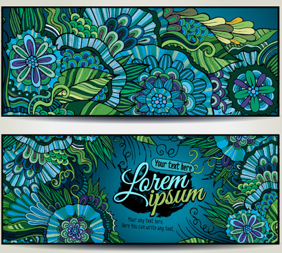 sea style floral decorative background vector
