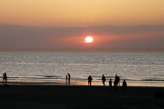 sea sunset beach