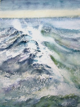 sea water painting