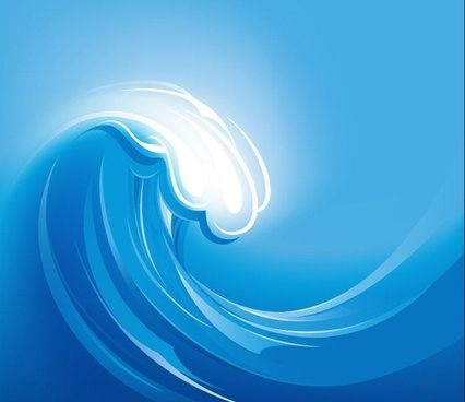 Sea Wave Vector Illustration