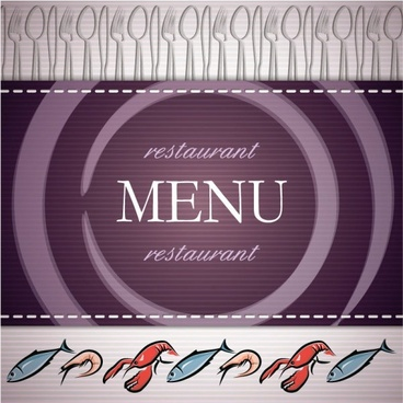 seafood menu background vector