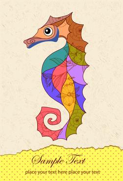 seahorse decor art