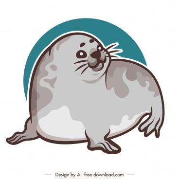 seal species icon flat handdrawn sketch