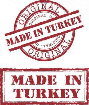 turkey origin seal template classic red design