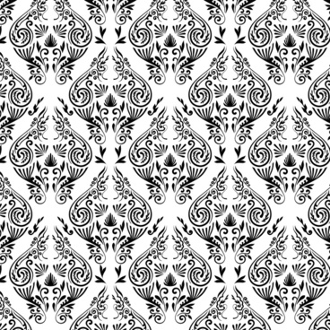 seamless background with damask ornament