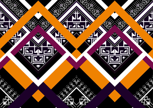 seamless ethnic pattern design vector