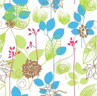 Seamless Floral Design Vector Background