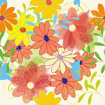 seamless flower pattern background vector graphic