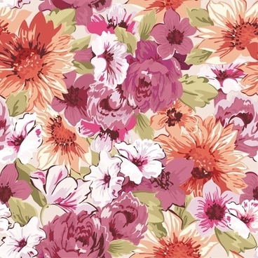 seamless flower pattern vector graphics