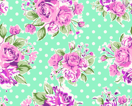 seamless flowers pattern vector
