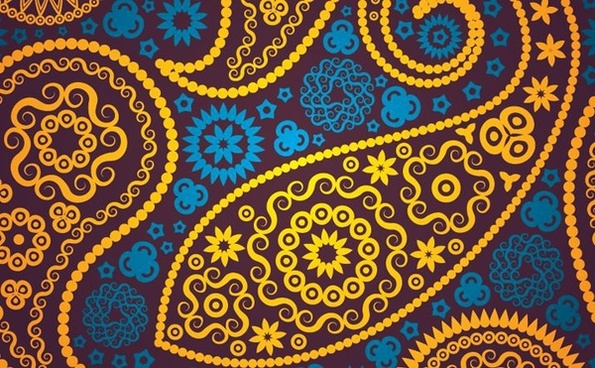 seamless paisley pattern design classical style
