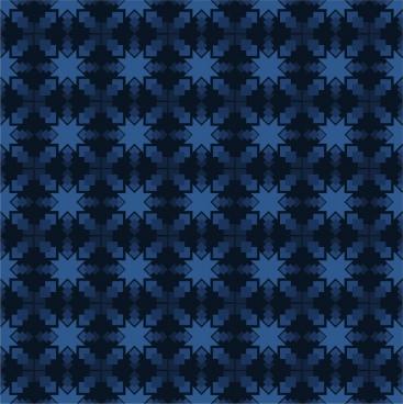 seamless pattern design dark blue symmetric style