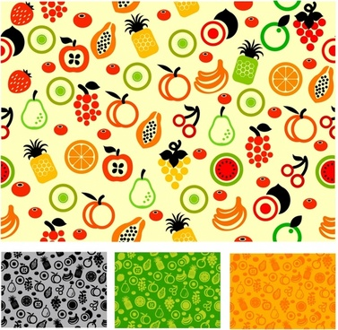 Seamless pattern fruit