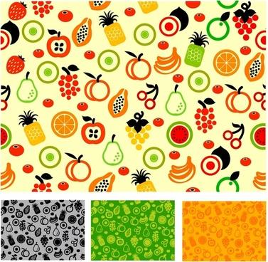 Seamless pattern fruit