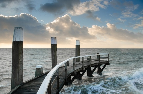 seascape at the island of texel