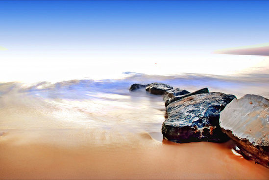 seascape sea rock