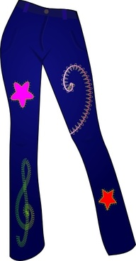 Secretlondon Jeans With Patterns clip art