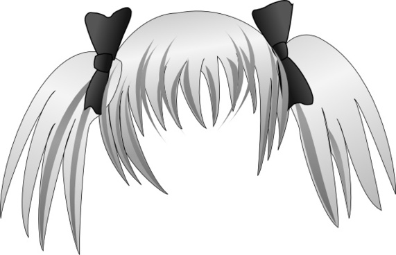 Secretlondon Manga Hair clip art