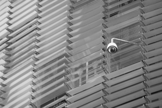 security camera black and white