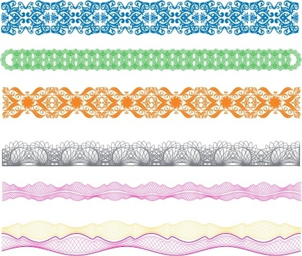 border design elements vintage seamless decor