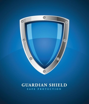 security protect shield background vector