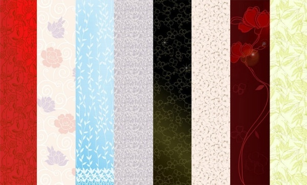 selection of flowers vector background 1