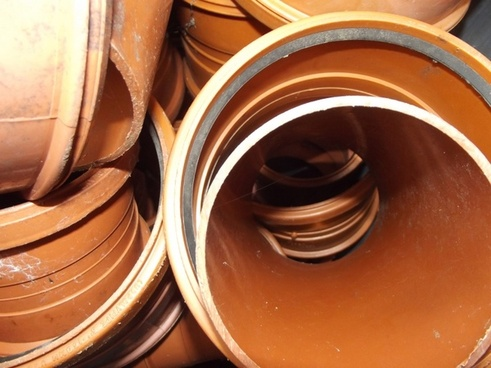 selection of plastic drain pipes