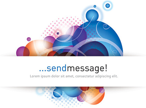 send message vector graphic