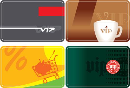senior member vip cards vector