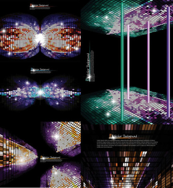 sense of space grid background vector