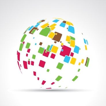 global sphere background colorful 3d geometric design