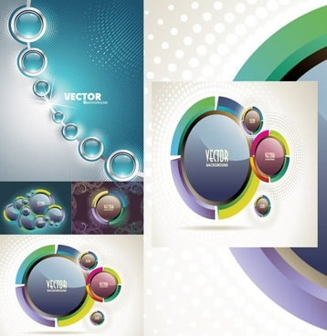 technology background bright colorful modern circles decor