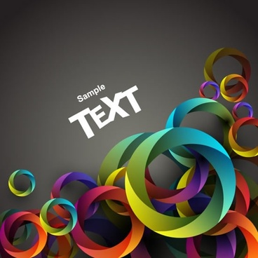 decorative background template dynamic modern 3d circles