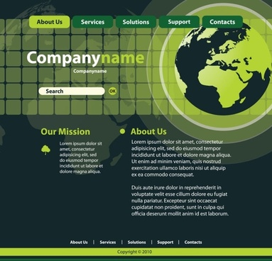 sense of technology website template 01 vector