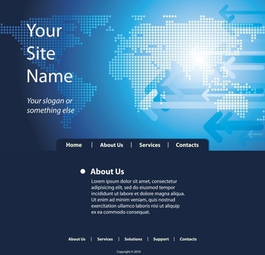 sense of technology website template 05 vector