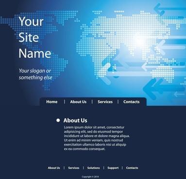 sense of technology website template 05 vector
