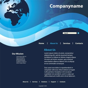 webpage template dark design global theme