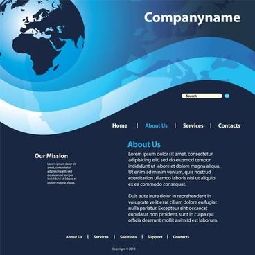 sense of technology website template vector