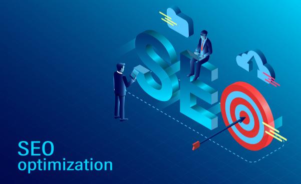 seo optimization concept modern flat design isometric new innovative ideas vector illustration