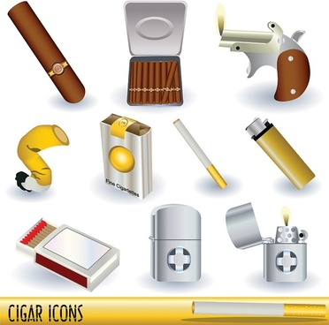 series vector cigarette lighters