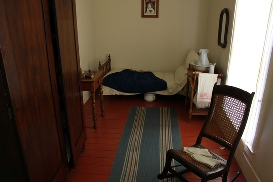 servant girl room in lincoln home in springfield illinois