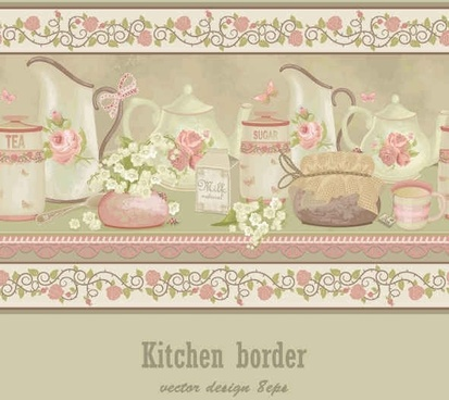 Serving dishes Card vector