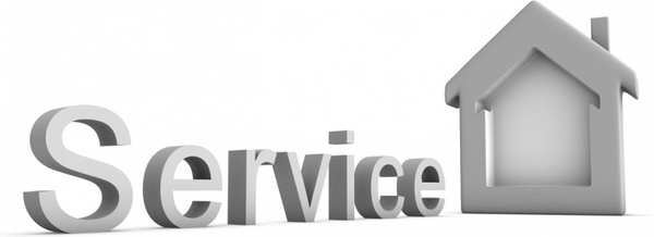 servise with house