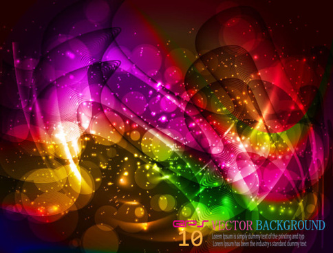 set abstract halation background free vector