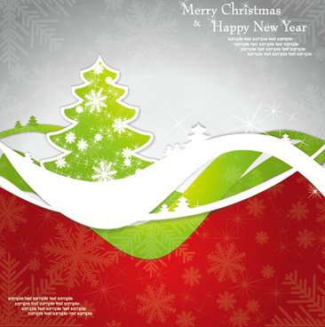 set of13 christmas and new year elements vector backgrounds
