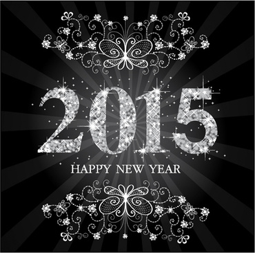 set of15 new year vectors design